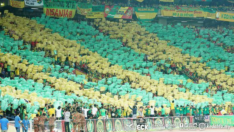 Antusiasme suporter sepak bola di Malaysia jelang bergulirnya Liga Super Malaysia 2020 mengundang perhatian dari media asing. Copyright: © Ofisial Penyokong Bola Sepak Kedah FA