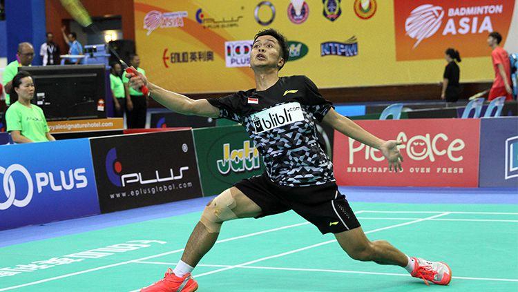 Anthony Sinisuka Ginting di laga pertama tunggal putra Asian Badminton Championship 2018 Copyright: © Humas Pelatnas PBSI