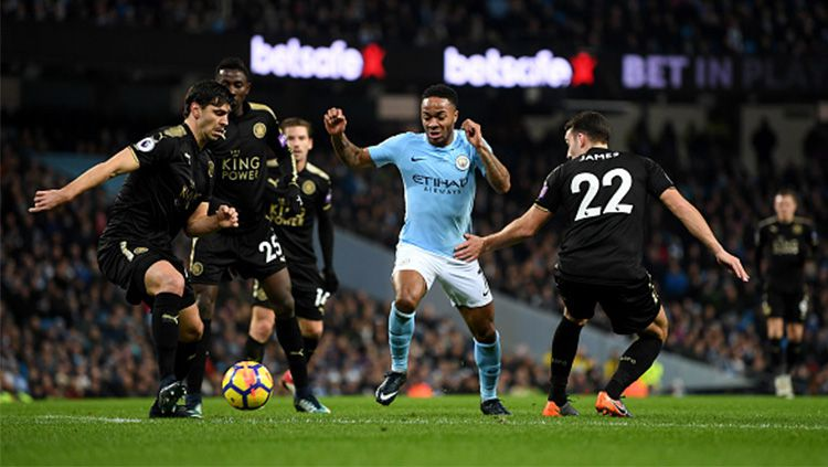 Terdapat satu pertandingan seru nan sengit di pekan ke-18 Liga Inggris antara Manchester City vs Leicester City, berikut kombinasi mengerikan starting XI. Copyright: © Getty Images