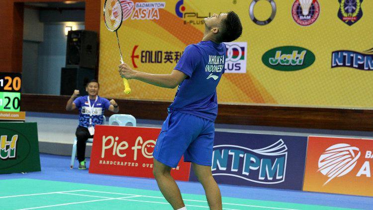 Pebulu tangkis tunggal putra Indonesia, Firman Abdul Kholik sukses meraih gelar juara Akita Masters 2019. Copyright: © Humas PBSI