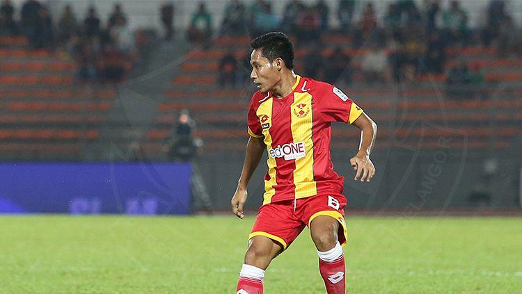 Evan Dimas Darmono saat memperkuat Selangor FA. Copyright: © INDOSPORT