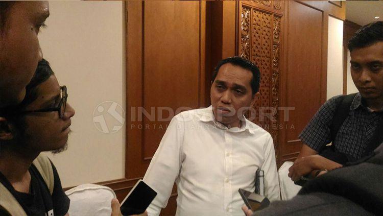Tigor Shalomboboy, COO PT Liga Indonesia Baru (PT LIB). Copyright: © Zainal Hasan/INDOSPORT