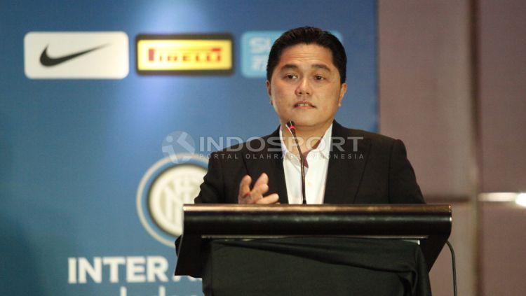 Bos Mahaka Group, Erick Thohir, pernah menjadi pemilik saham mayoritas klub sepak bola DC United dan Inter Milan. Copyright: © Herry Ibrahim/Indosport.com