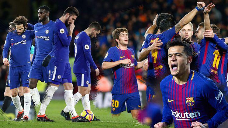 Barcelona vs Chelsea. Copyright: © Grafis: Eli Suhaeli/INDOSPORT