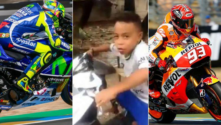 Valdy, bocah asal Nusa Tenggara Timur yang sempat viral karena lihai menirukan komentator MotoGP. Copyright: © Internet
