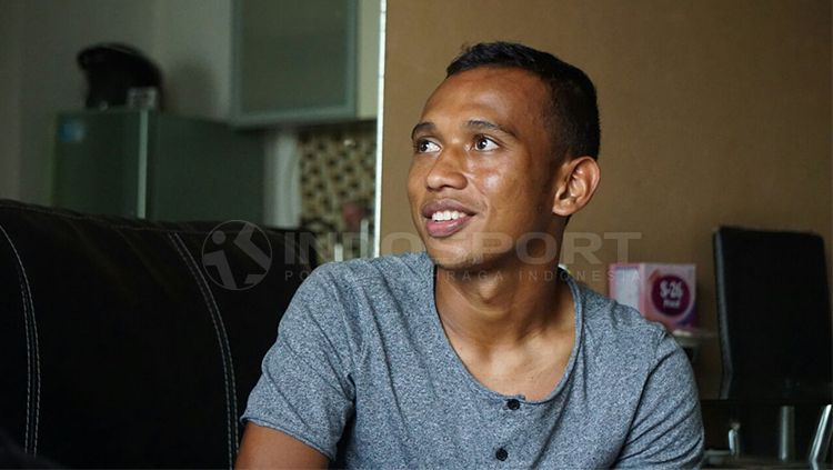 Pemain Persebaya Surabaya, Irfan Jaya. Copyright: © Fitra Herdian/INDOSPORT