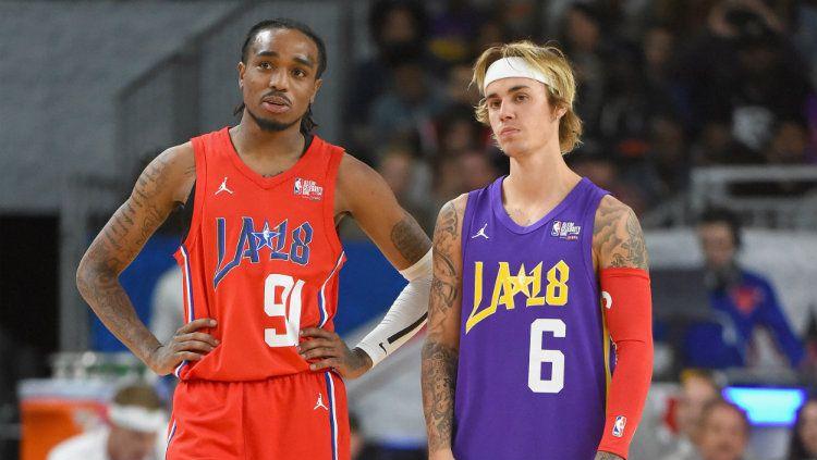 Quavo dan Justin Bieber Copyright: © USA Today