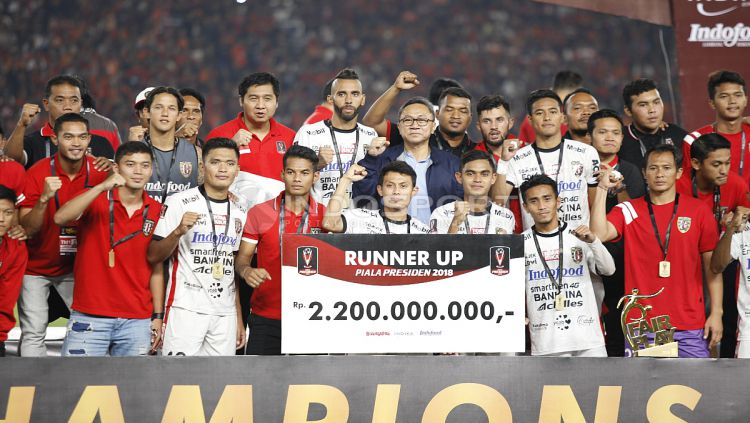 Bali United dinobatkan sebagai Tim Fair Play Piala Presiden 2018. Copyright: © Herry Ibrahim/INDOSPORT
