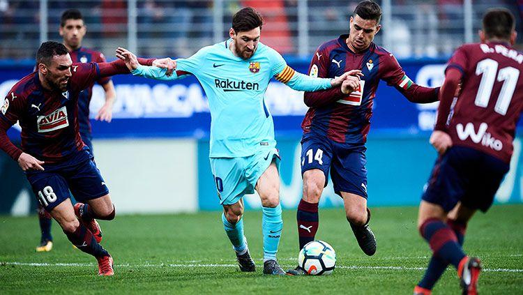 Megabintang Barcelona, Lionel Messi. Copyright: © INDOSPORT