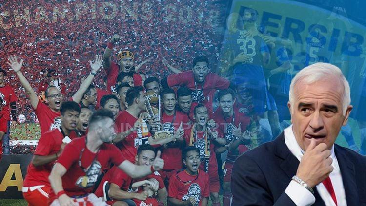 Menurut pelatih Persib Bandung, Mario Gomez, tidak turunnya izin dari kepolisian bukanlah alasan utama mengapa laga Persija Jakarta vs Persib diundur. Copyright: © Grafis: Eli Suhaeli/INDOSPORT