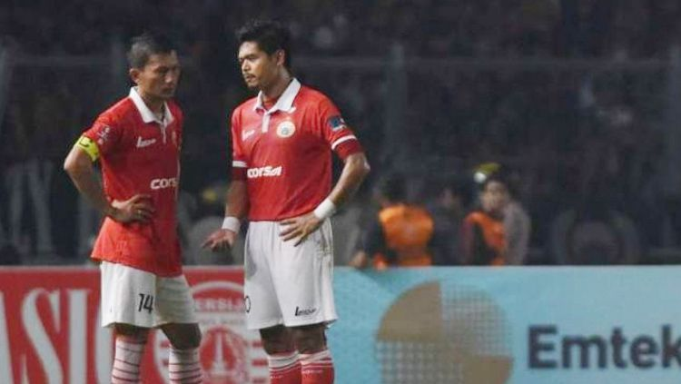 Ismed Sofyan dan Bambang Pamungkas dua pemain sepak bola terlama di Persija Jakarta. Copyright: © Istimewa
