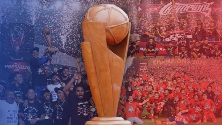 Tiga klub yang pernah juara Piala Presiden. Copyright: © Grafis: Eli Suhaeli/INDOSPORT