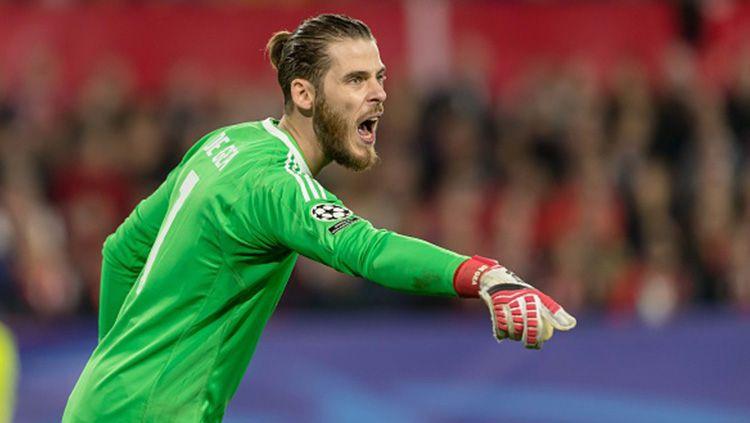 David de Gea ingin Manchester United memastikan diri tampil di Liga Champions musim depan. Copyright: © Getty Images
