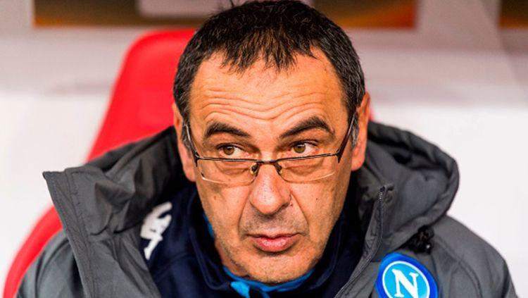 Pelatih Napoli, Maurizio Sarri Copyright: © INDOSPORT