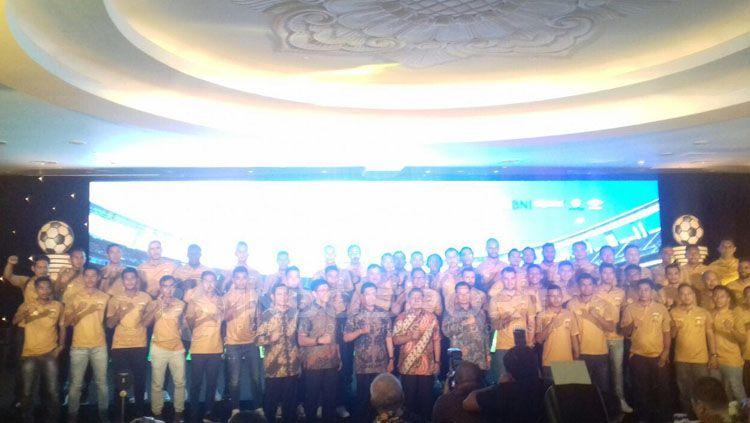 Peluncuran tim Bhayangkara FC Copyright: © Zainal Hasan/Indosport.com