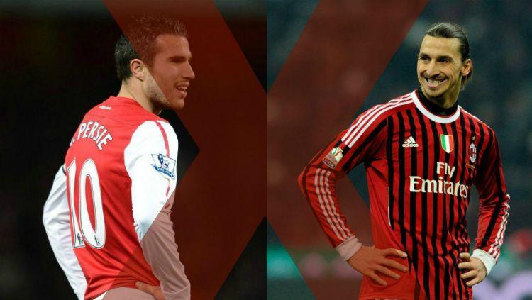 Pemain klub AC Milan dan Arsenal Copyright: © INTERNET