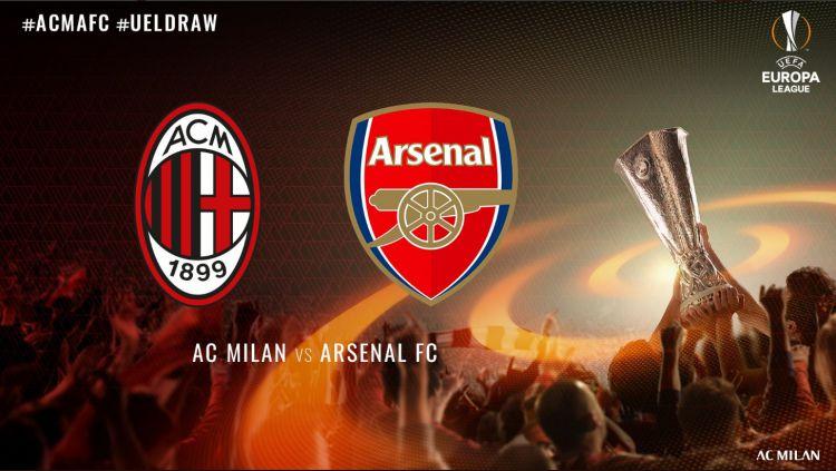AC Milan bertemu dengan Arsenal di babak 16 besar Liga Europa Copyright: © twitter