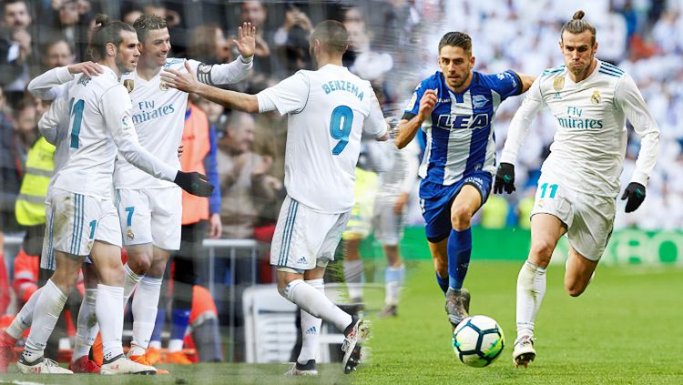 Real Madrid menang banyak atas Deportivo Alaves dengan skor 4-0 tanpa balas. Copyright: © INDOSPORT