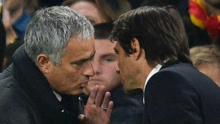 Perselisihan antara dirinya dan Antonio Conte tak membuat Jose Mourinho tutup mata dan tetap menginginkan Inter Milan dapat meraih Scudetto. Copyright: © Sky Sports