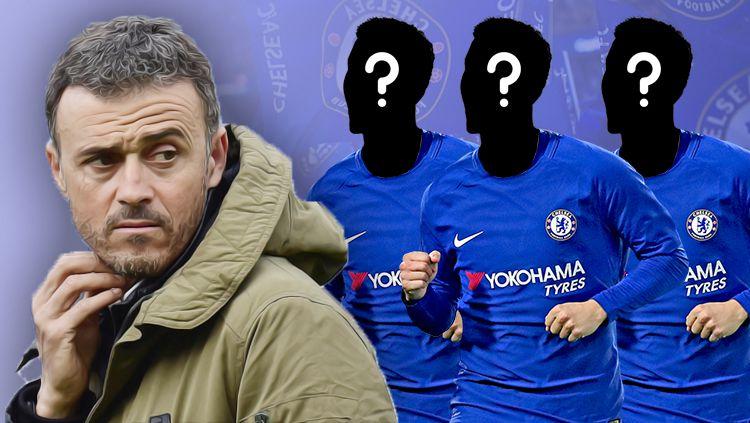 Tiga pemain yang akan dibuang Luis Enrique jika jadi ke Chelsea. Copyright: © Grafis: Eli Suhaeli/INDOSPORT
