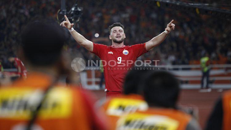 Marko Simic bangga bisa membawa kemenangan perdana bagi Persija Jakarta di Piala AFC 2018. Copyright: © Herry Ibrahim/INDOSPORT