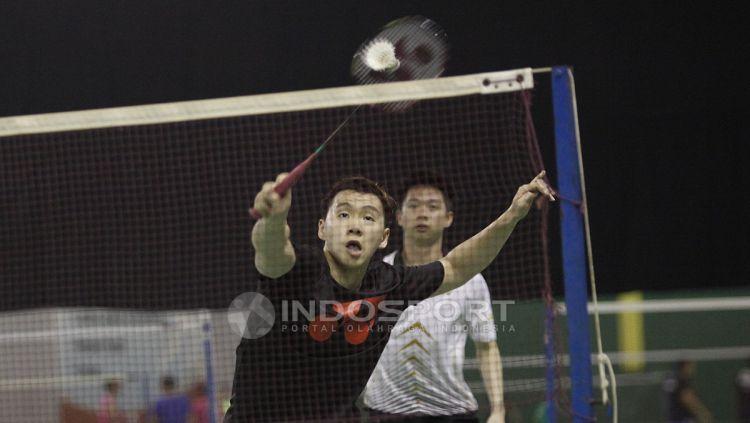 Kevin/Marcus harus melawan tiga rekannya dalam latihan hari ini. Copyright: © Herry Ibrahim/Indosport.com