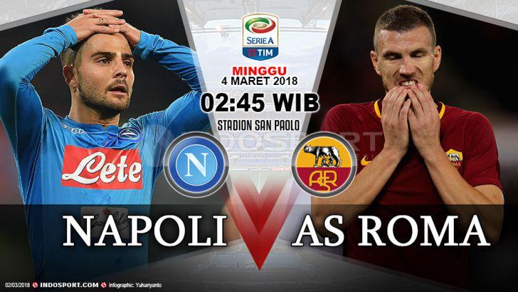 Prediksi Napoli vs AS Roma Copyright: © Grafis:Yanto/Indosport.com