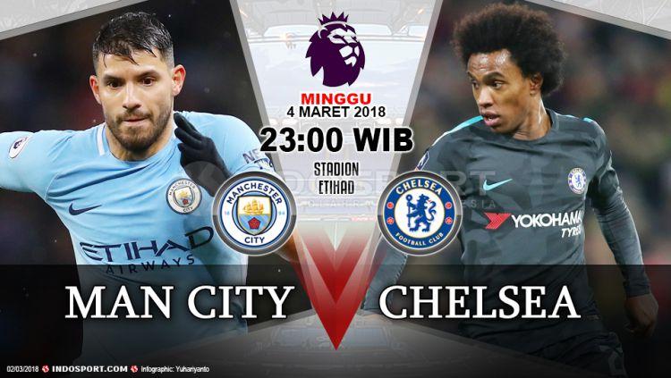 Prediksi Manchester City vs Chelsea Copyright: © Grafis:Yanto/Indosport.com