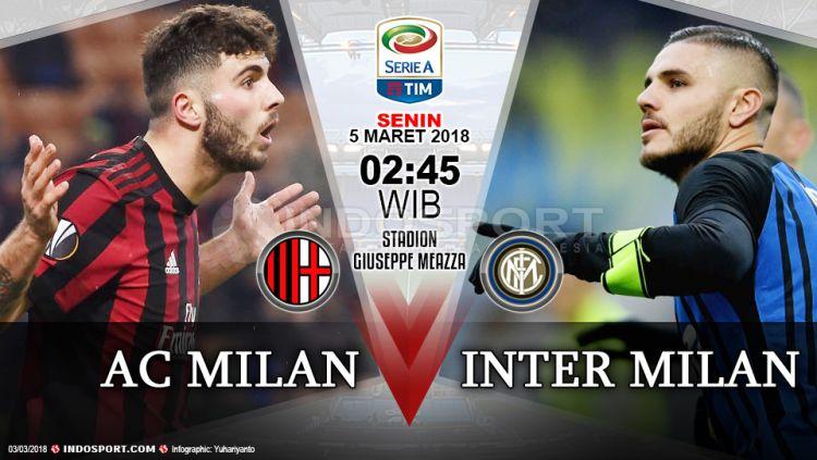 Prediksi AC Milan vs Inter Milan Copyright: © Grafis:Yanto/Indosport.com
