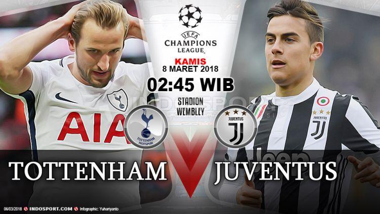 Prediksi Tottenham Hotspur vs Juventus Copyright: © Grafis:Yanto/Indosport.com