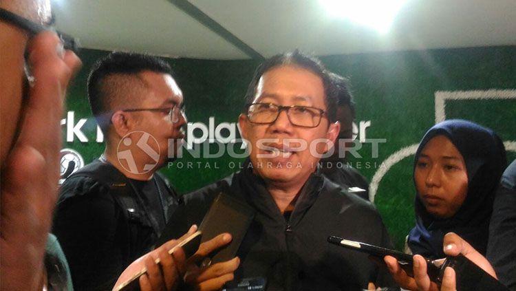 Pelaksana tugas (Plt) Ketua Umum PSSI, Joko Driyono. Copyright: © Zainal Hasan/INDOSPORT