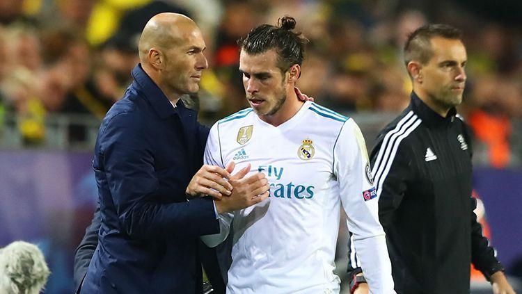 Zinedine Zidane dan Gareth Bale Copyright: © Istimewa