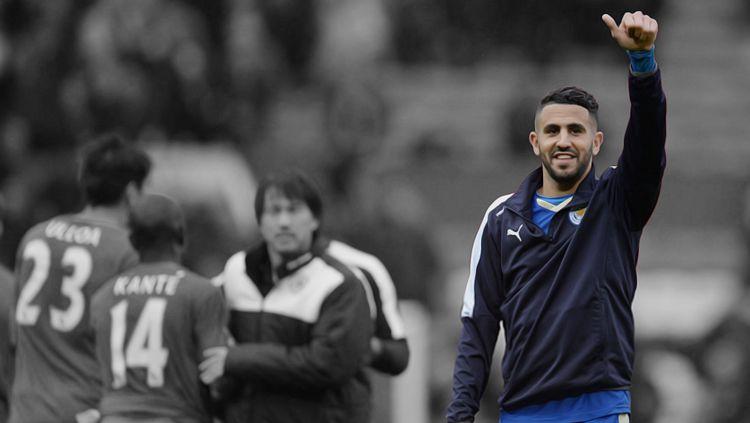 Riyad Mahrez resmi pensiun sebagai pemain profesional. Copyright: © Getty Images