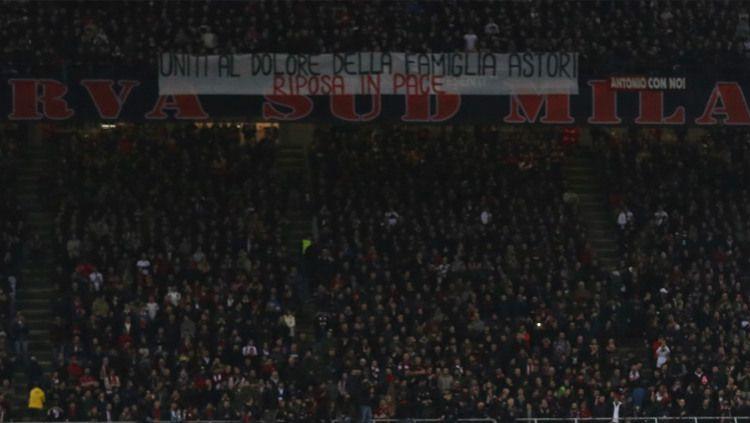 Ilustrasi Milanisti di Stadion San Siro. Copyright: © twitter.com/101greatgoals