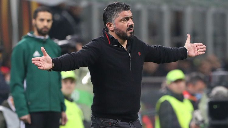 Pelatih AC Milan, Gennaro Gattuso, selama ini tampil dengan postur tubuh berisi. Copyright: © Getty Images