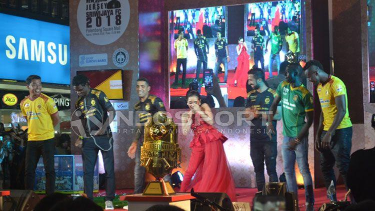 Suasana Launching tim Sriwijaya di Palembang. Copyright: © Muhammad Effendi?INDOSPORT