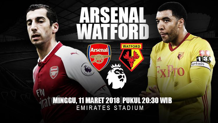 Prediksi Arsenal vs Watford. Copyright: © INDOSPORT