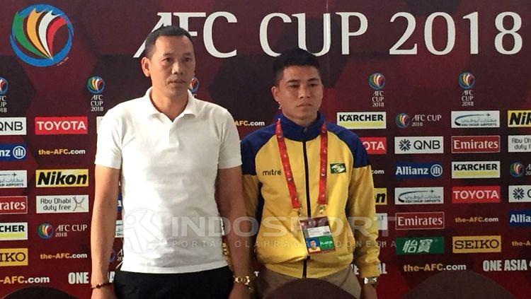 Song Lam Nghe An dalam jumpa pers akan menghadapi Persija Jakarta di Piala AFF pekan ke-4. Herry Ibrahim Copyright: © Herry Ibrahim/INDOSPORT