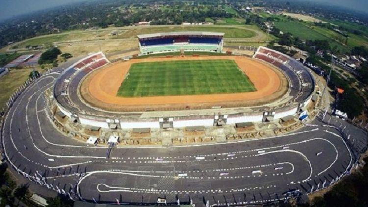 Potret Stadion Sultan Agung Bantul dari ketinggian. Copyright: © Istimewa