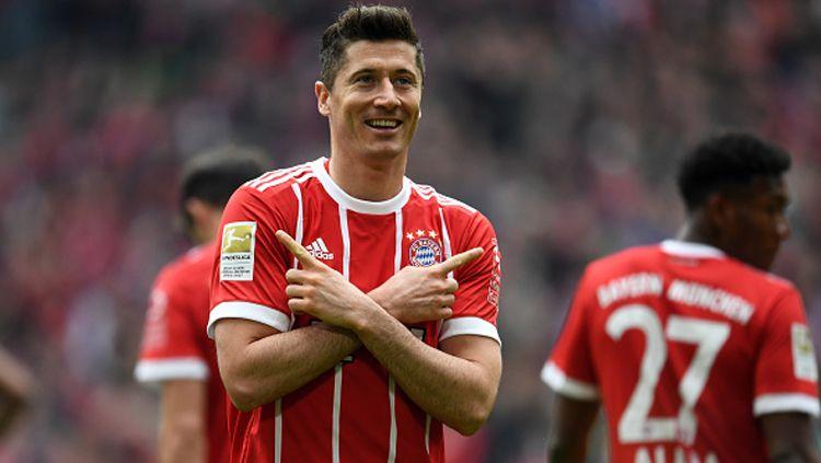 Robert Lewandowski, penyerang Bayern Munchen. Copyright: © Getty Images