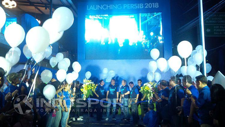 Jonathan Bauman saat ditemui oleh para wartawan di launching Persib Bandung. Copyright: © Arif Rahman