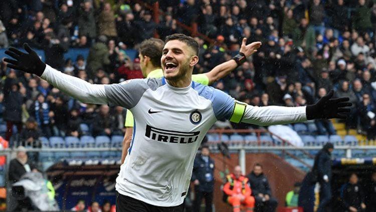 Mauro Icardi menyumbang 4 gol dalam kemenangan 5-0 Inter Milan atas Sampdoria. Copyright: © Getty Images