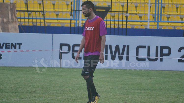 Sriwijaya FC dalam ajang latihan. Copyright: © Muhammad Effendi/INDOSPORT