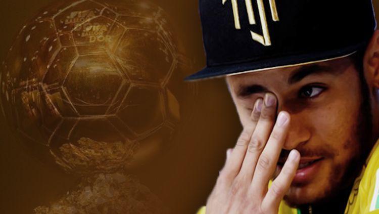 Neymar Ballon Dor. Copyright: © INDOSPORT