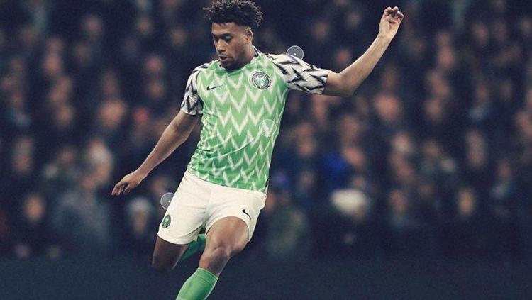 Jersey Home Nigeria Piala Dunia 2018. Copyright: © Nike