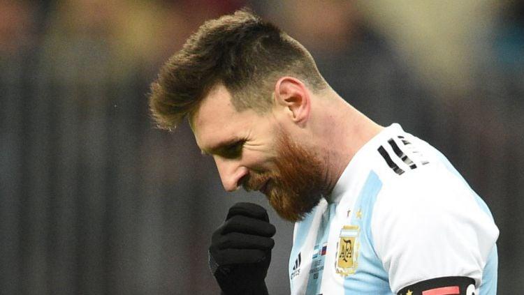 Lionel Messi di Timnas Argentina. Copyright: © Getty Images