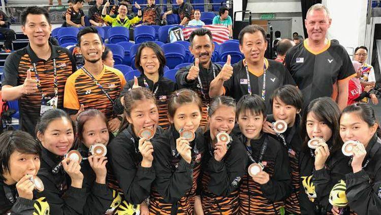 Demi saingi tim bulutangkis Indonesia di gelaran SEA Games 2021, dua pebulutangkis Malaysia harus rela berkorban. Copyright: © Instagram/Goh Jin Wei