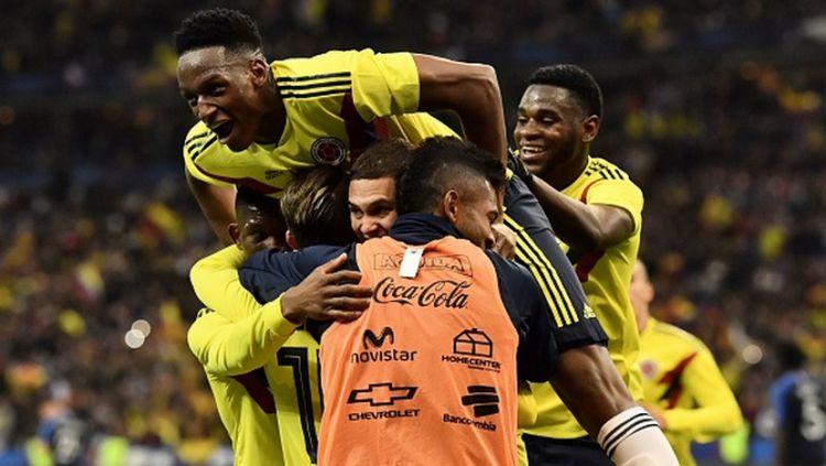 Skuat Kolombia berhasil memenangkan pertandingan atas Prancis. Copyright: © INDOSPORT