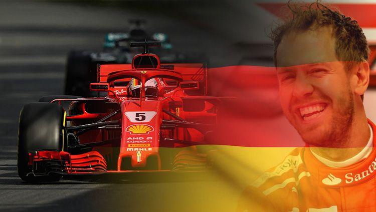 Sebastian Vettel berhasil keluar sebagai juara Formula 1 Australia. Copyright: © INDOSPORT