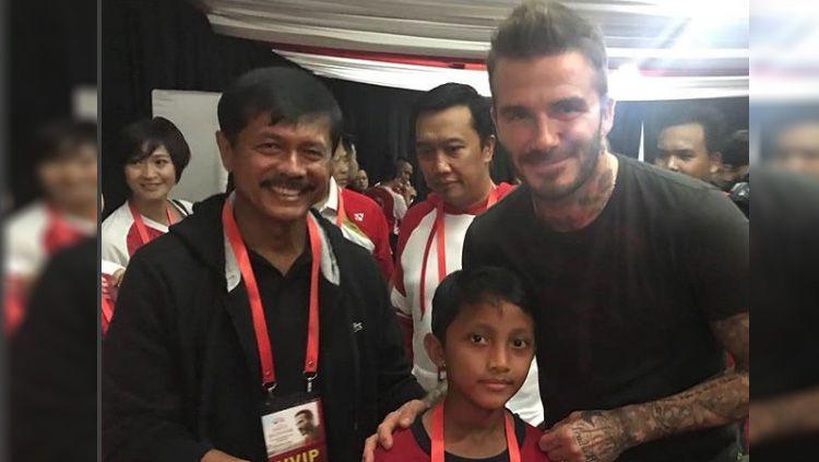 Indra Sjafri, Kun Mansur, David Beckham Copyright: © Instagram@kun_mansur